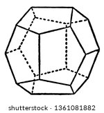 figure with polyhedrons with... | Shutterstock .eps vector #1361081882