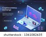 cryptocurrency exchange... | Shutterstock .eps vector #1361082635