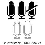 vector microphone icon....
