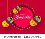 happy baisakhi design  vector... | Shutterstock .eps vector #1361097962