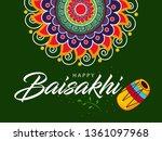 happy baisakhi design  vector... | Shutterstock .eps vector #1361097968