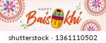 happy baisakhi banner design ... | Shutterstock .eps vector #1361110502