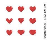 heart icon set  love symbol....   Shutterstock .eps vector #1361121725