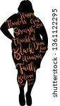 beauty afro woman  words vector ... | Shutterstock .eps vector #1361122295