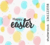 happy easter lettering with... | Shutterstock .eps vector #1361123558