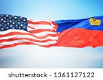 flags of the usa and... | Shutterstock . vector #1361127122