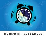 the circadian rhythms are... | Shutterstock .eps vector #1361128898