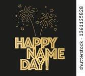 vector happy name day... | Shutterstock .eps vector #1361135828