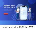 mobile app development.... | Shutterstock .eps vector #1361141378