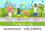 family fun day horizontal... | Shutterstock .eps vector #1361148452