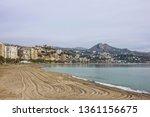 malaga town sand beach  spain | Shutterstock . vector #1361156675