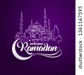 welcoming ramadan greeting card ... | Shutterstock .eps vector #1361167595