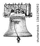 liberty bell  philadelphia ... | Shutterstock .eps vector #1361190092