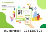 qr code scanning concept with...