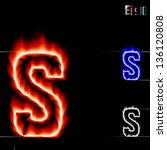 vector fire letter s | Shutterstock .eps vector #136120808