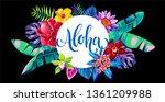 tropical hawaiian design with... | Shutterstock .eps vector #1361209988