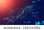 stock market or forex trading... | Shutterstock . vector #1361213582