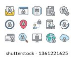 data protection related color... | Shutterstock .eps vector #1361221625