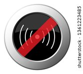 sound or vibration symbol   ban ... | Shutterstock .eps vector #1361223485