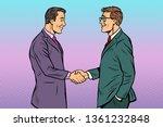 caucasian businessmen men... | Shutterstock .eps vector #1361232848