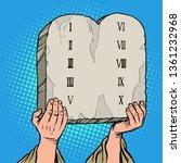 tables of the covenant. ten... | Shutterstock .eps vector #1361232968
