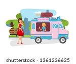 ice cream for kids in park flat ...   Shutterstock .eps vector #1361236625