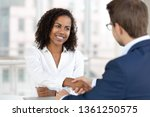 smiling african female hr... | Shutterstock . vector #1361250575