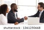 happy african american couple... | Shutterstock . vector #1361250668
