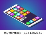 modern smartphone with three... | Shutterstock .eps vector #1361252162
