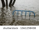 close up view of flooded bike...   Shutterstock . vector #1361258438