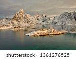 beautiful norway  the lofoten... | Shutterstock . vector #1361276525
