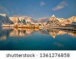 beautiful norway  the lofoten... | Shutterstock . vector #1361276858
