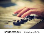 professional audio mixing... | Shutterstock . vector #136128278