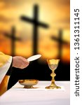 holy communion on the... | Shutterstock . vector #1361311145