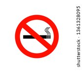 no smoking sign and area.... | Shutterstock .eps vector #1361328095