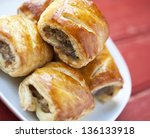 Sausage Rolls On A Plate On A...