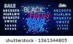 black friday sale neon sign...   Shutterstock .eps vector #1361344805