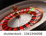 luxury casino roulette wheel on ... | Shutterstock . vector #1361346008