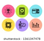 hdd  trophy and reject icons... | Shutterstock .eps vector #1361347478