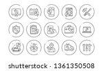 repair line icons. hammer ... | Shutterstock .eps vector #1361350508
