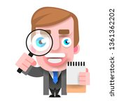 detective holding a magnifying...   Shutterstock .eps vector #1361362202