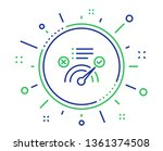correct answer line icon.... | Shutterstock .eps vector #1361374508