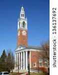 Stock photo ira allen chapel in university of vermont uvm burlington vermont usa 136137692