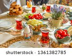 delicious rich traditional... | Shutterstock . vector #1361382785
