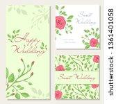 vector set of happy wedding...   Shutterstock .eps vector #1361401058