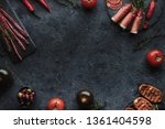 mediterranean food on black... | Shutterstock . vector #1361404598