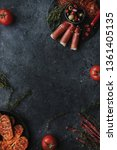 mix of mediterranean appetizers.... | Shutterstock . vector #1361405135