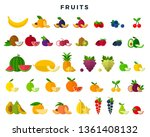 big set of fruits and berries ... | Shutterstock .eps vector #1361408132