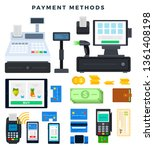 payment methods. icons ... | Shutterstock .eps vector #1361408198