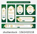 set of ramadan kareem... | Shutterstock .eps vector #1361410118